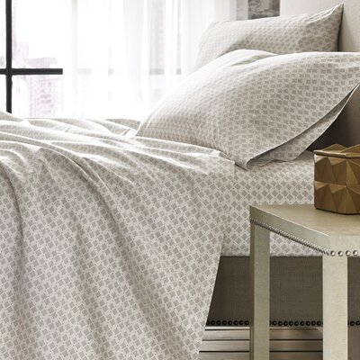 100% Cotton 4 Piece Sheet Set Size: Queen