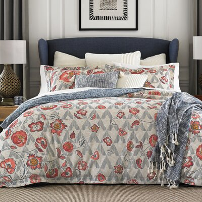 Thach Floral 100% Cotton Reversible Comforter Set Size: Full/Queen