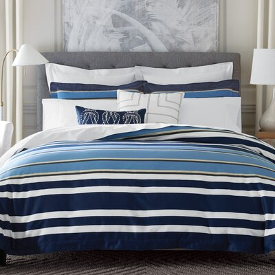 Gaynor Stripe 100% Cotton Comforter Set Size: Full/Queen