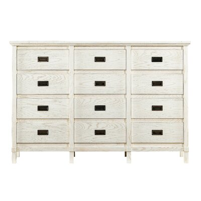 Blackburn 12 Drawer Dresser Finish: Distressed Sail Cloth