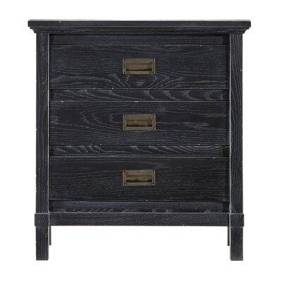 Blackburn 3 Drawer Bachelors Chest Color: Distressed Stormy Night