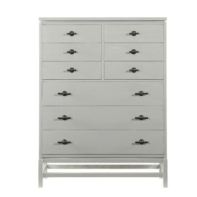 Blackburn 9 Drawer Chest Color: Distressed Morning Fog