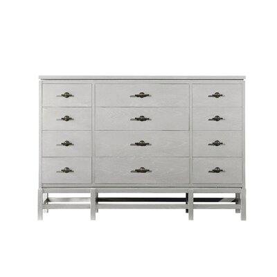 Blackburn 12 Drawer Dresser Color: Distressed Morning Fog
