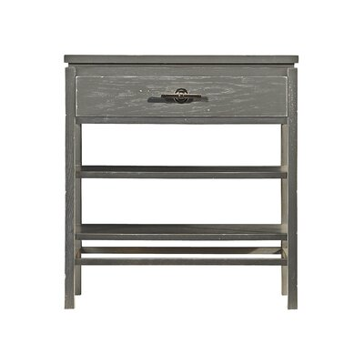 Blackburn 1 Drawer Nightstand Color: Distressed Dolphin