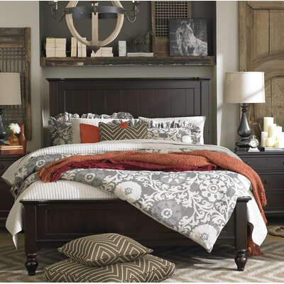 Blithedale Panel Bed Finish: Dark Brown, Size: California King