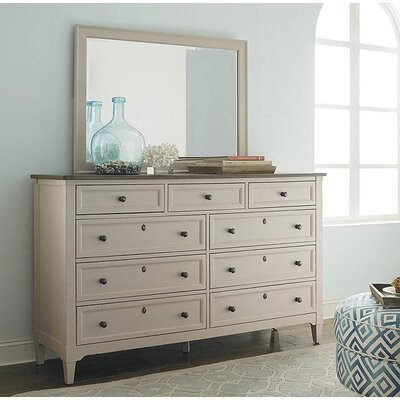 Eldridge Lodge 9 Drawer Dresser with Mirror