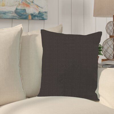 Sandalwood Outdoor Sunbrella Throw Pillow Fabric: Seascape Chocolate