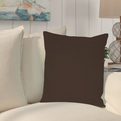 Sandalwood Outdoor Sunbrella Throw Pillow Fabric: Seascape Charcoal
