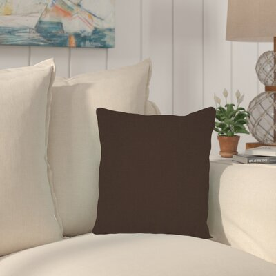Haverhill Outdoor Sunbrella Throw Pillow Fabric: Seascape Chocolate