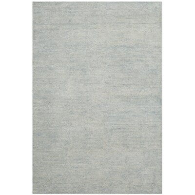 McArthur Hand-Knotted Plain Gray Area Rug Rug Size: Rectangle 4 x 6