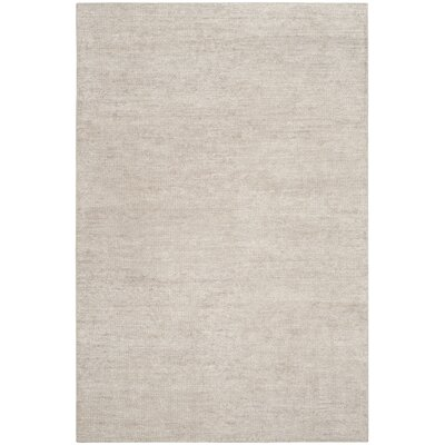 McArthur Hand-Knotted Rectangle Gray Plain Area Rug Rug Size: Rectangle 4 x 6