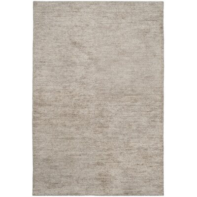 McArthur Hand-Knotted Solid Gray Area Rug Rug Size: Rectangle 4 x 6