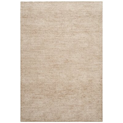 McArthur Hand-Knotted Beige Area Rug Rug Size: Rectangle 4 x 6