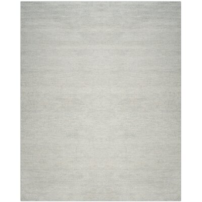 McArthur Hand-Knotted Plain Gray Area Rug Rug Size: Rectangle 8 x 10