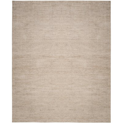 McArthur Hand-Knotted Beige Area Rug Rug Size: Rectangle 8 x 10
