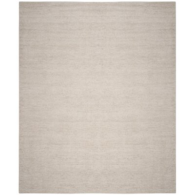 McArthur Hand-Knotted Rectangle Gray Plain Area Rug Rug Size: Rectangle 8 x 10