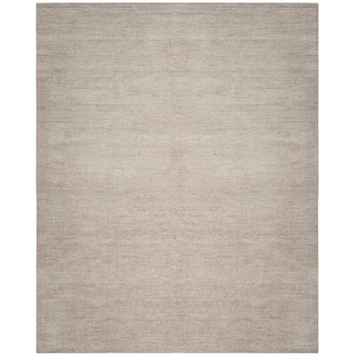 McArthur Hand-Knotted Solid Gray Area Rug Rug Size: Rectangle 8 x 10