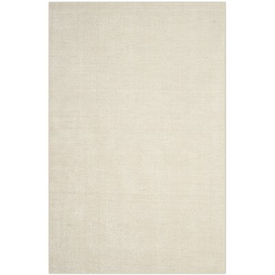 McArthur Hand-Knotted Beige Wool Area Rug Rug Size: Rectangle 5 x 8