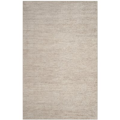 McArthur Hand-Knotted Solid Gray Area Rug Rug Size: Rectangle 5 x 8