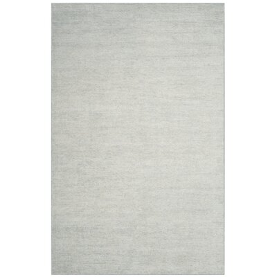 McArthur Hand-Knotted Plain Gray Area Rug Rug Size: Rectangle 5 x 8