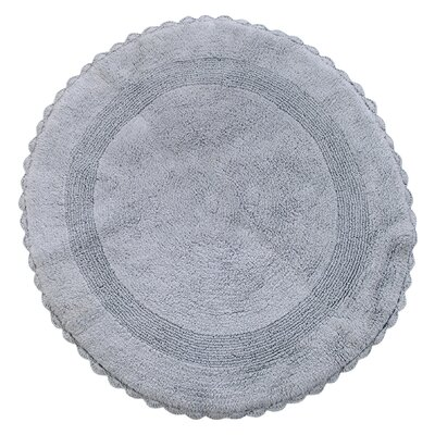 Natale 100% Soft Cotton Reversible Bath Rug Color: Silver Gray