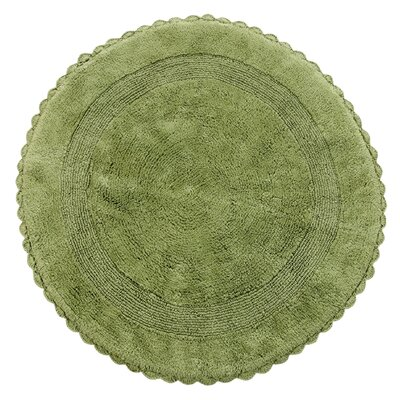 Natale 100% Soft Cotton Reversible Bath Rug Color: Sage Green