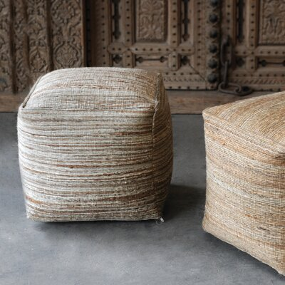 Shafter Pouf Upholstery: Light Tan