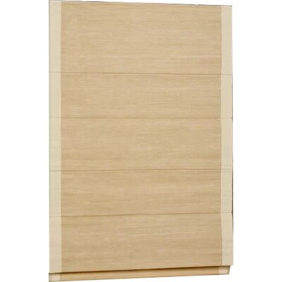 Woven Cane Paper Roman Shade Size: 36 W x 63 L, Color: Natural with Sand Border