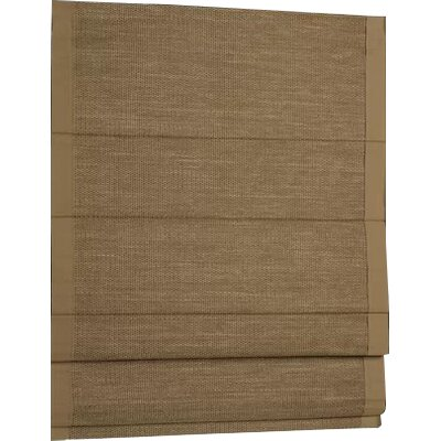 Woven Cane Paper Roman Shade Size: 32 W x 63 L, Color: Wicker with Wheat Border