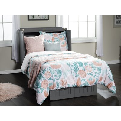 Ashby Twin Murphy Chest Folding Bed with Mattress Color: Atlantic Gray