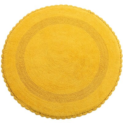 Natale 100% Soft Cotton Reversible Bath Rug Color: Yellow
