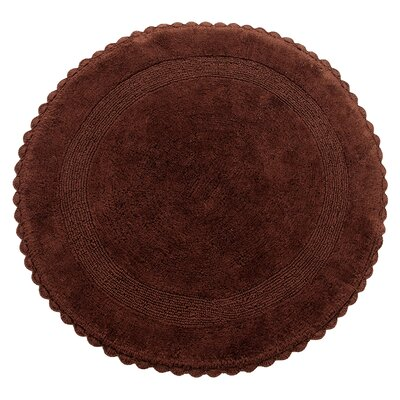 Natale 100% Soft Cotton Reversible Bath Rug Color: Chocolate