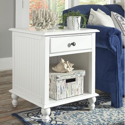 Witherspoon End Table Color: Beach White