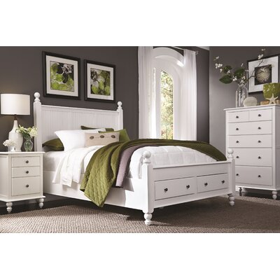 Quahog Panel Bed with Storage Size: Queen
