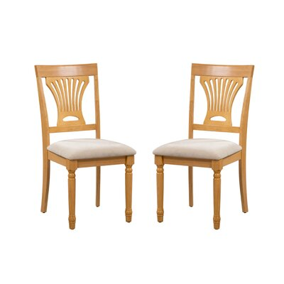 Whittaker Solid Wood Dining Chair Frame Color: Oak/White