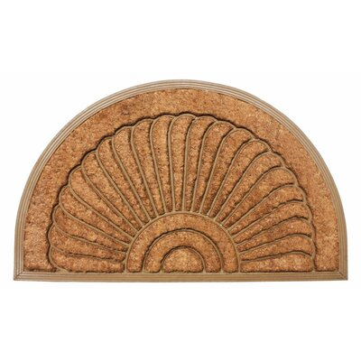 Bakers Sunburst Doormat Mat Size: Semi circle 16 x 26