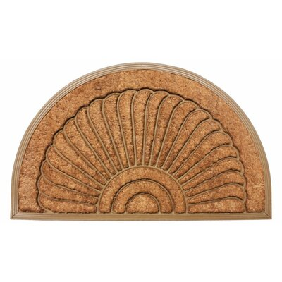 Bakers Sunburst Doormat Mat Size: Semi circle 26 x 4