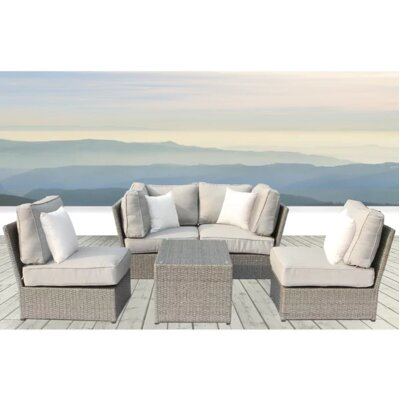 Simmerman 5 Piece Sofa Set with Cushions BYST3123 40650233