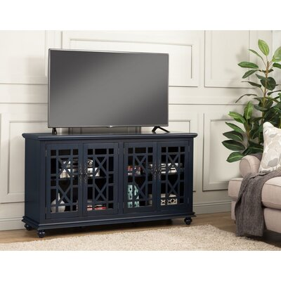 Belfast 63 TV Stand Color: Catalina Blue