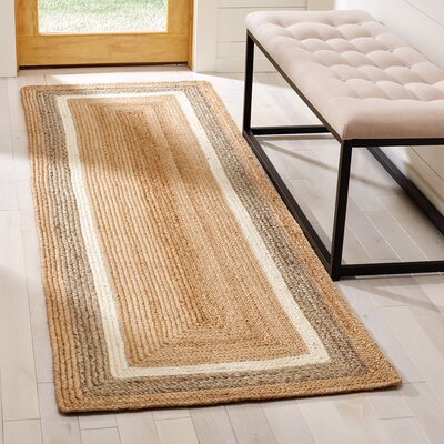 Fogarty Fiber Hand Woven Natural Area Rug� Rug Size: Runner 26 x 8