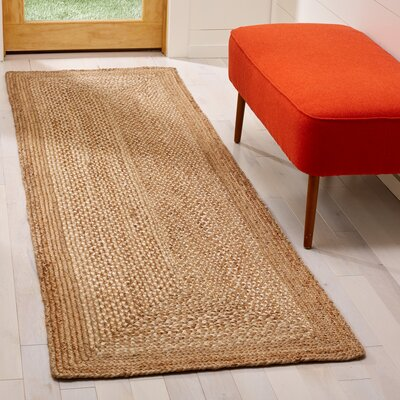 Marie Natural Fiber Hand Hooked Natural Area Rug� Rug Size: Runner 26 x 8