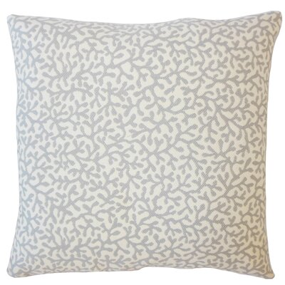 Sherborn Nautical Down Filled Throw Pillow Size: 18 x 18, Color: Gray