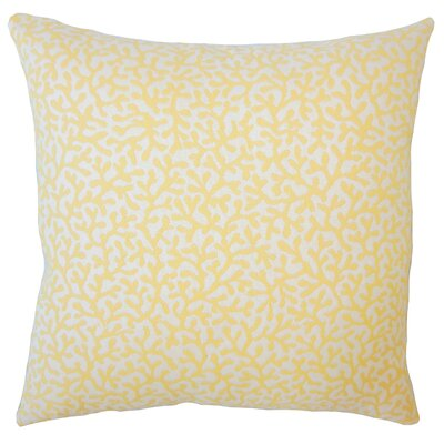 Sherborn Nautical Down Filled Throw Pillow Size: 18 x 18, Color: Sunshine
