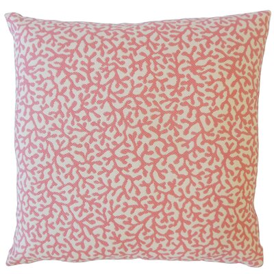 Sherborn Nautical Down Filled Throw Pillow Size: 18 x 18, Color: Pink