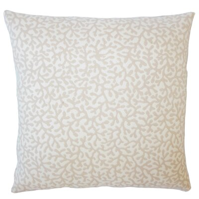 Sherborn Nautical Down Filled Throw Pillow Size: 22 x 22, Color: Sand
