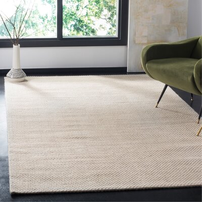 Marina Hand Tufted Ivory Area Rug� Rug Size: Rectangle 5 x 8