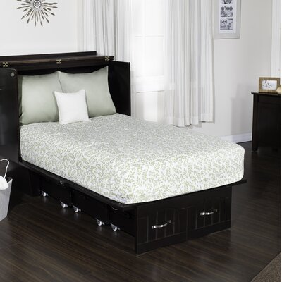 Ashby Twin Murphy Chest Folding Bed with Mattress Color: Espresso