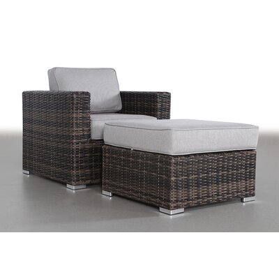 Hoyle Arm Chair and Ottoman Frame Color: Espresso