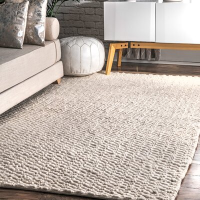 Lockhart Hand-Woven Ivory Area Rug Rug Size: Rectangle 5 x 8