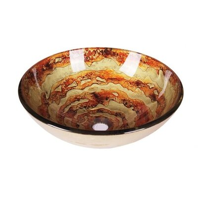 Galaxy Swirl Tempered Glass Circular Vessel Bathroom Sink